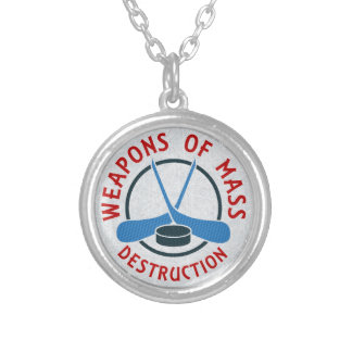 Hockey Weapons of Mass Destruction Necklace