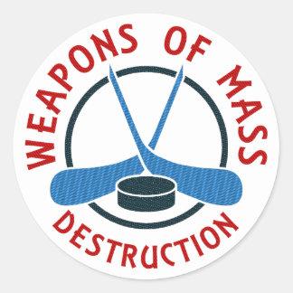 Hockey Weapons of Mass Destruction Round Sticker