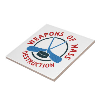 Hockey Weapons of Mass Destruction Ceramic Tile