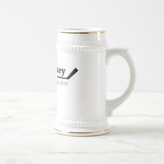 hockey ---- what else is there 18 oz beer stein