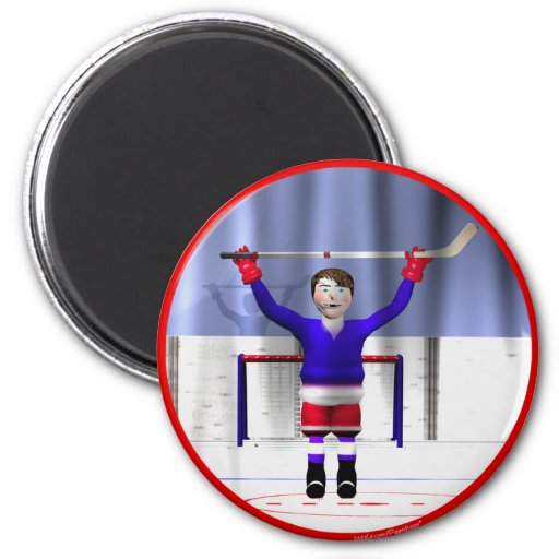 Hockey Winner 2 Inch Round Magnet