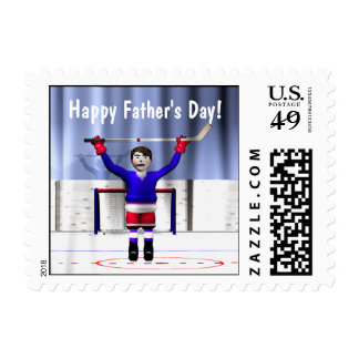 Hockey Winner Father's Day Postage