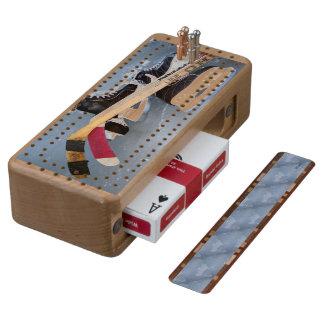 Hockey Wood Cribbage Board
