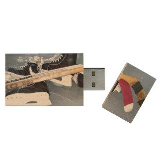 Hockey Wood USB Flash Drive