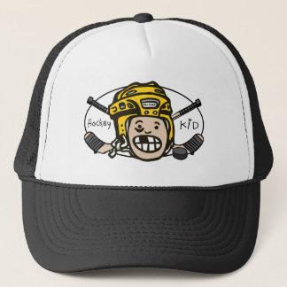 Hockey Yellow Trucker Hat