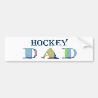 HockeyDad Car Bumper Sticker