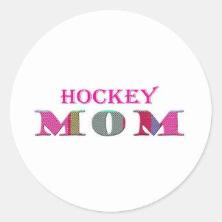 HockeyMom Classic Round Sticker