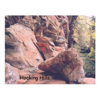 """HOCKING HILLS IN OHIO"" (PHOTOG) POSTCARD"
