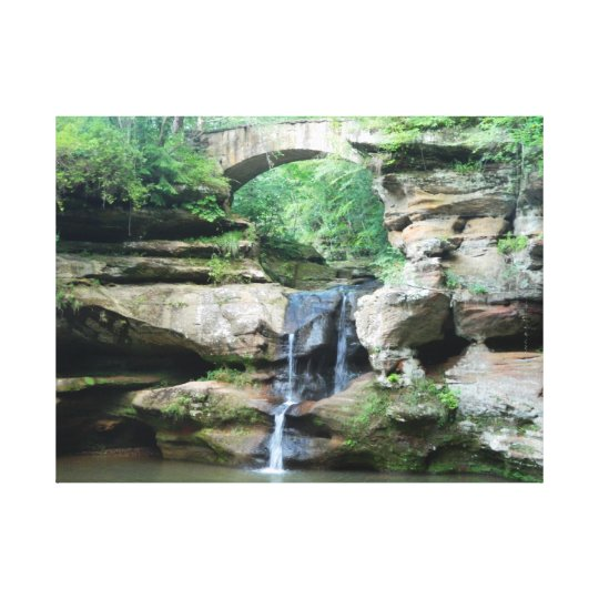 Hocking Hills Waterfall Old Man's Cave Upper Falls Canvas Print