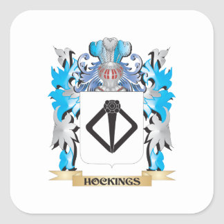 Hockings Coat of Arms - Family Crest Square Sticker