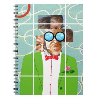 Hockney portrait notebook