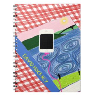 Hockney style notebook
