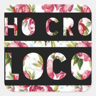 HoCroLoco Pink Flowers Sticker