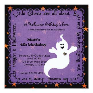 Hocus Focus Ghost Birthday 5.25x5.25 Square Paper Invitation Card