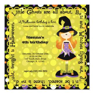 """Hocus Pocus Birthday 5.25"""" Square Invitation Card"""