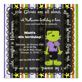 Hocus Pocus Frankenstein Birthday Card