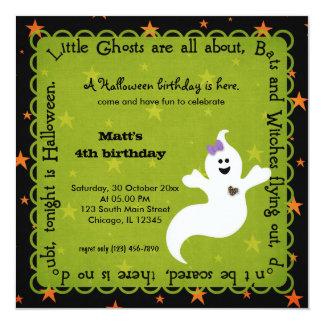 Hocus Pocus Ghost Birthday Invitations