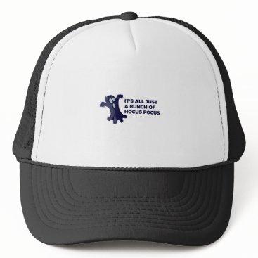 Halloween Themed Hocus Pocus Ghost Boo Halloween Design Trucker Hat