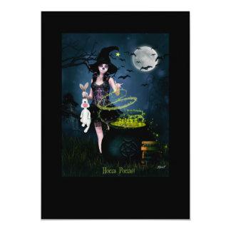 """Hocus pocus 5"""" x 7"""" invitation card"""