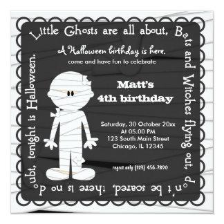 Hocus Pocus Mummy Birthday 5.25x5.25 Square Paper Invitation Card