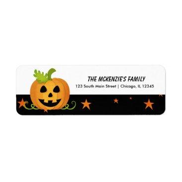 Halloween Themed Hocus Pocus Pumpkin Label