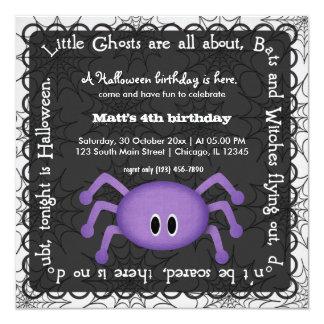Hocus Pocus Spider Birthday Custom Invites