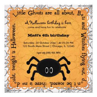 Hocus Pocus Spider Birthday Personalized Invitation
