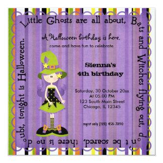 Hocus Pocus Witch Birthday 5.25x5.25 Square Paper Invitation Card