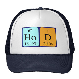 HoD periodic table word hat