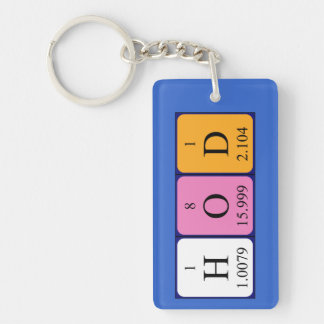 HoD periodic table word keyring Keychain