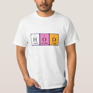 HoD periodic table word shirt
