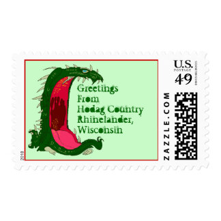 HODAG Greeting POSTAGE STAMPS Hodag Country