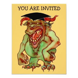 HODAGS HODAG GRADUATION INVITATION ~EZ2 CUSTOMIZE
