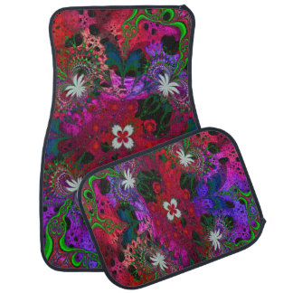 Hodge Podge Floral Abstract Car Floor Mat