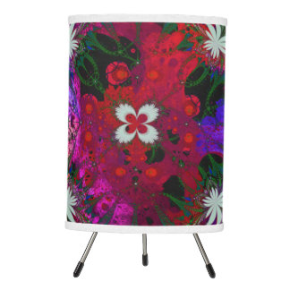 Hodge Podge Floral Abstract Tripod Lamp