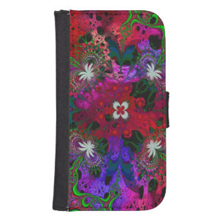 Hodge Podge Floral Abstract Wallet Phone Case For Samsung Galaxy S4