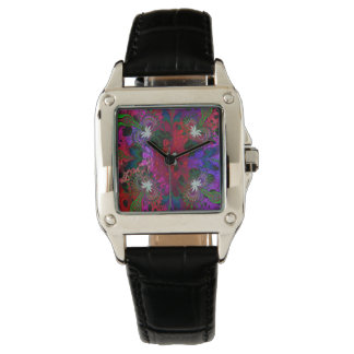 Hodge Podge Floral Abstract Wrist Watches