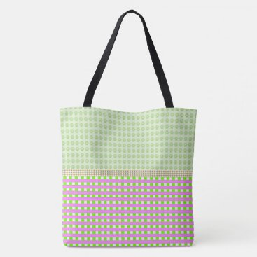 Beach Themed Hodge-Podge-Plaid-Totes-Shoulder-Bags-Multi Tote Bag