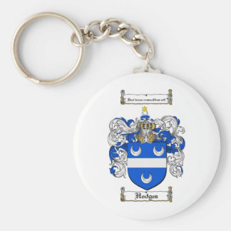 HODGES FAMILY CREST -  HODGES COAT OF ARMS KEYCHAIN