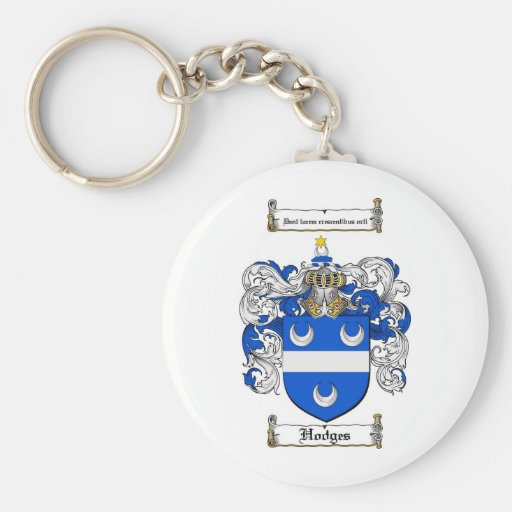 HODGES FAMILY CREST -  HODGES COAT OF ARMS KEYCHAINS
