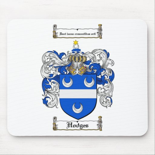 HODGES FAMILY CREST -  HODGES COAT OF ARMS MOUSE MATS