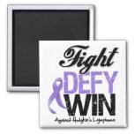 Hodgkin Lymphoma Fight Defy Win Fridge Magnet