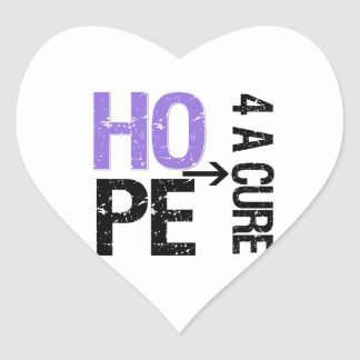 Hodgkin Lymphoma Hope For a Cure Heart Stickers