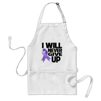 Hodgkin Lymphoma I Will Never Give Up Adult Apron