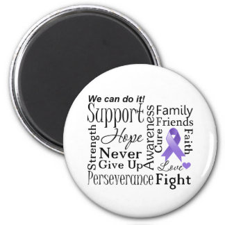 Hodgkin Lymphoma Supportive Words Refrigerator Magnets