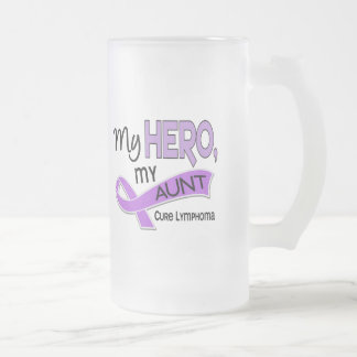 Hodgkin's Lymphoma MY HERO MY AUNT 42 16 Oz Frosted Glass Beer Mug