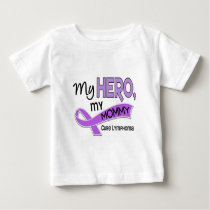 Hodgkin's Lymphoma MY HERO MY MOMMY 42 Baby T-Shirt