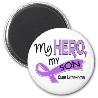 Hodgkin's Lymphoma MY HERO MY SON 42 2 Inch Round Magnet