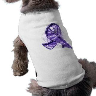 Hodgkin s Lymphoma Slogan Watermark Ribbon Pet Tee Shirt