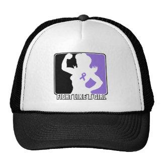 Hodgkin s Lymphoma Strength Fight Like A Girl Mesh Hats